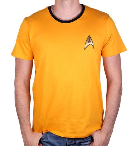 T-shirt Star Trek - Costume Kirk Yellow