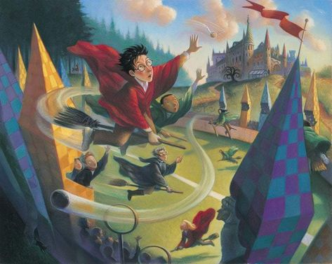 Harry Potter Quidditch Deluxe Mary GrandPre SIGNED Giclee on Fine Art Paper Limited Edition of 250