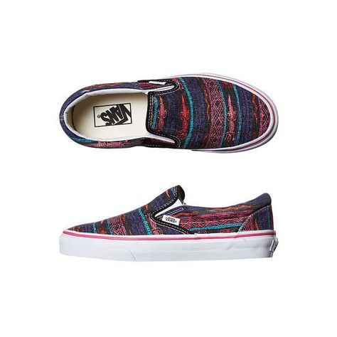 79b7b1866c WOMENS CLASSIC SLIP ON VAN DOREN SHOE BY VANS IN BLACK TRIBAL DESERT (2.275  UYU