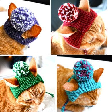i die custom pom pom cat hat choose your colors