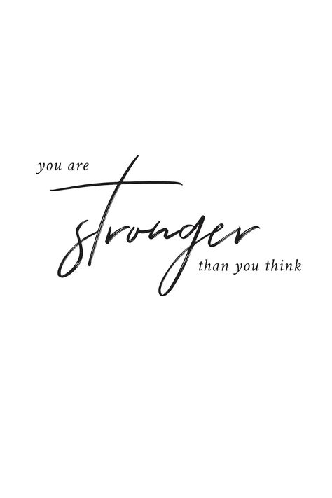 Free printable: You are stronger than you think. Comes in A4, A3, 5 x 7, 8 x 10, 16 x 20, and 24 x 36 so it can be used as wall art for the home, as dorm room decor, for binders, as a planner insert, or on a moodboard. The neutral black and white colour scheme means this free wall art printable would suit most styles of home décor, from modern minimalist to rustic farmhouse. #freeprintable #motivationalquote #quote #homedecor #freemotivationalprintable