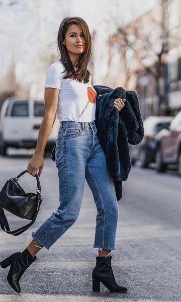Como Ser Cool Usando Jeans E Blusa Branca Com Imagens Look