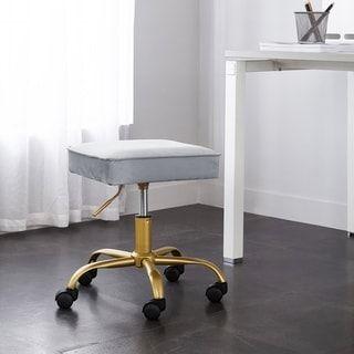 Brilliant Silver Orchid Brent Velvet Petal Stool Fayzas Room Cjindustries Chair Design For Home Cjindustriesco