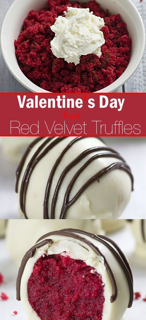 Valentine's Day Treat! Red Velvet Truffles,Baking #baileys Truffles #black Truffles #brownie Truffles #cake Truffles #caramel Truffles #cheesecake Truffles #chocolate Truffles #christmas Truffles #coconut Truffles #coffee Truffles #cookie dough Truffles #cream cheese Truffles #Day #ganache Truffles #healthy Truffles #key lime Truffles #lemon Truffles #no bake Truffles #nutella Truffles #orange Truffles #oreo Truffles #peanut butter Truffles #peppermint Truffles #pumpkin Truffles #raspberry Truff