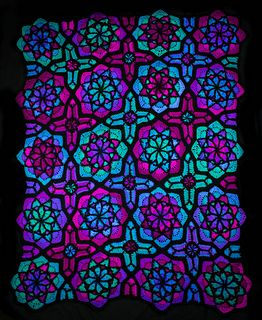 Ravelry A Haunted Hook Tessellating Stained Glass Afghan Pattern