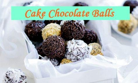 Cake Chocolate Balls Recipe Chocolate Desserts Chocolate Balls Recipe Cake Ball Recipes Cookie Dough Fudge