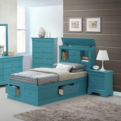 Babcock Storage Platform Bed Rusticbedroomfurniture With Images