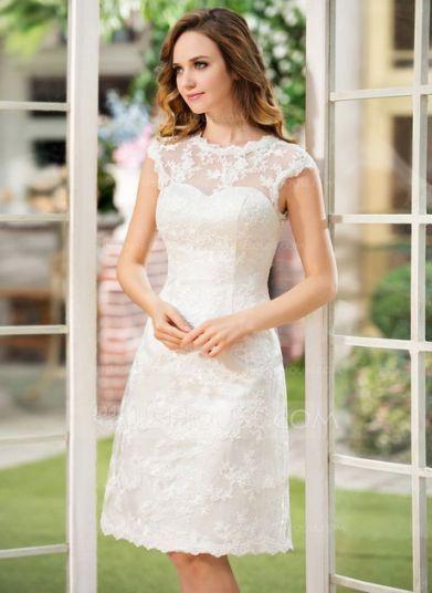 Kleid Standesamt Knielang Elegant Standesamt Kleider Knielang Brautkleid Standes 2020 Dantel Gelinlik Gelin Elbisesi Kisa Gelinlikler