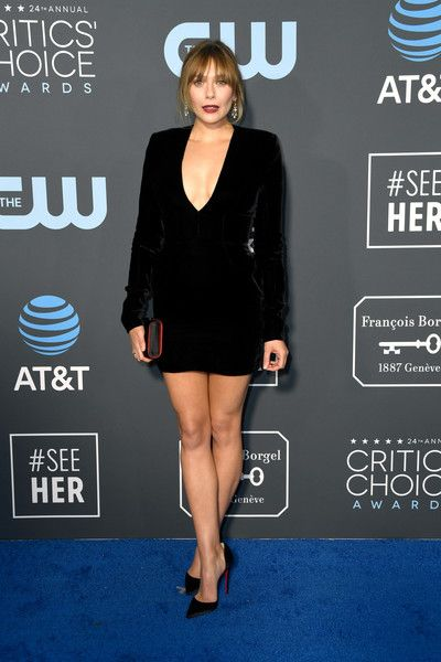 Elizabeth Olsen attends the 24th annual Critics' Choice Awards at Barker Hangar.