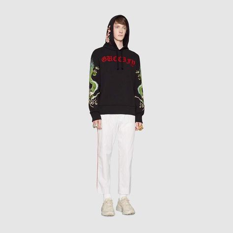 c95033b1472 Gucci Guccify cotton sweatshirt with dragons