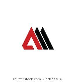 Am Letter Vector Logo Mountain Vector Logo Architect Logo