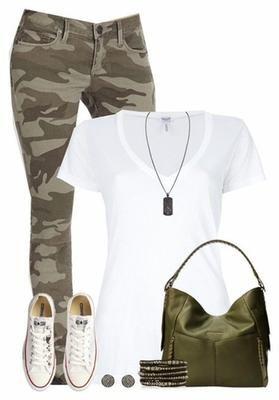 converse verde militar mujer
