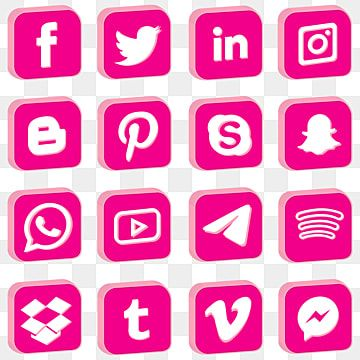Pink 3d Social Media Icons Instagram Icon Logo Pink Png And Vector With Transparent Background For Free Download In 2021 Social Media Icons Instagram Icon Media Icon