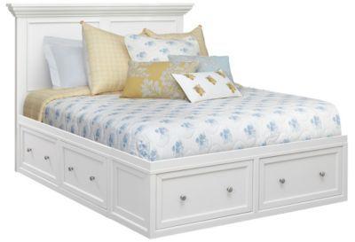 Abbott White Queen Storage Bed In 2020 King Storage Bed Storage