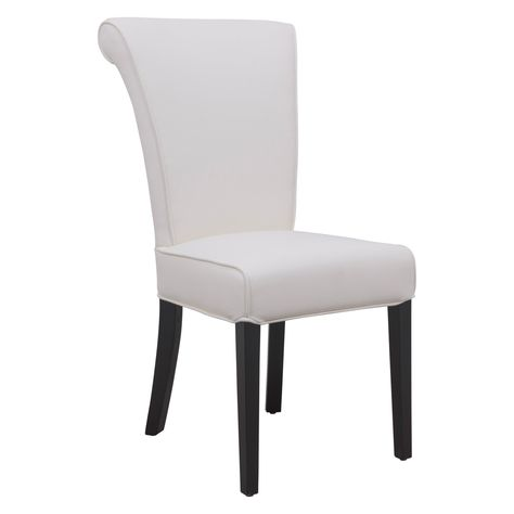 Leisuremod Eden Contemporary Faux Leather Dining Chair White