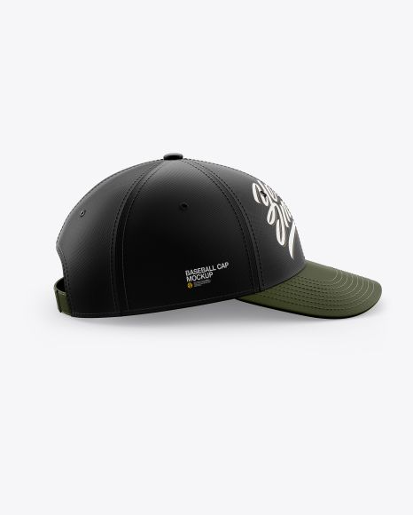 Baseball Cap Mockup Side View In Apparel Mockups On Yellow Images Object Mockups In 2020 Clothing Mockup Mockup Design Mockup Free