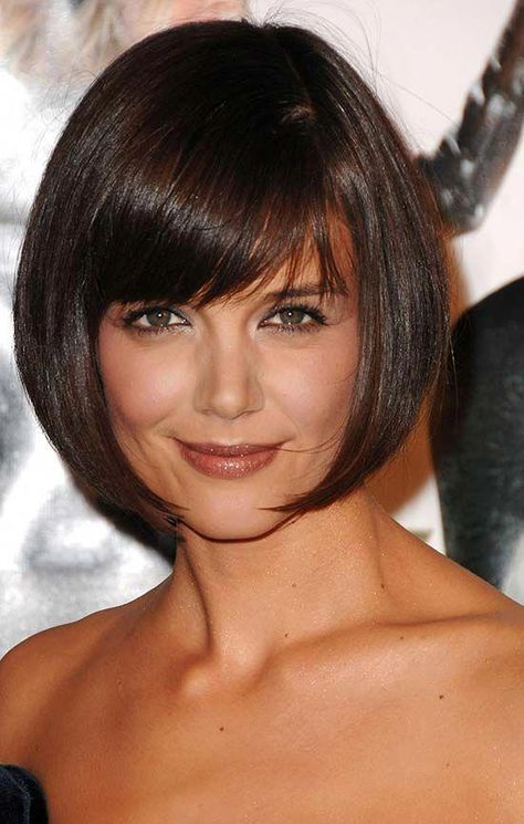 katie holmes Short Hair with Bangs bobhairstyleswithbangs