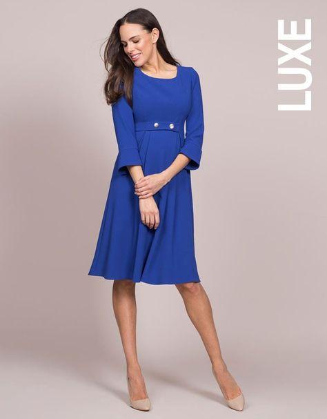 38039702d43b2 Royal Blue Tailored Maternity Dress   Seraphine