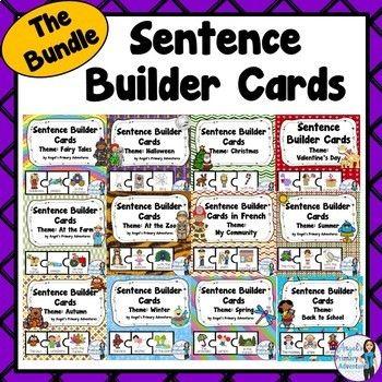 Sentence Builder Cards:  The BUNDLE!