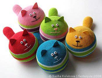 DMC Delightful AMIGURUMI crochet CAT doorstop PATTERN (With images ...   266x350