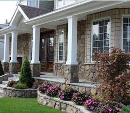 18 Ideas For House Front With Stone Columns House With Porch Stone Porches Front Porch Stone