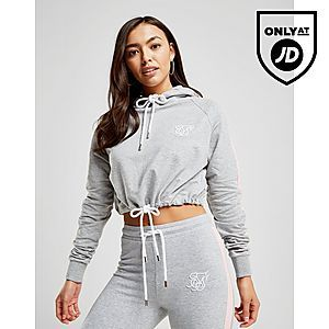 2871e29e SikSilk Crop Panel Tie Hoodie | crop tops in 2019 | Clothes for ...