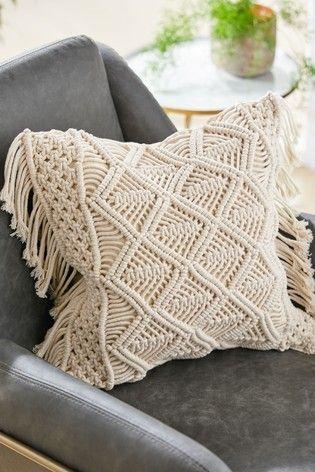 Buy Macrame Tassel Cushion From The Next Uk Online Shop In 2020 Natural Cushions Cushions On Sofa Cushions