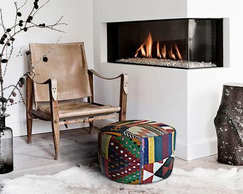 Kilim Pouf Round Sitting Pouf In Genuine Kilims Pouf Home
