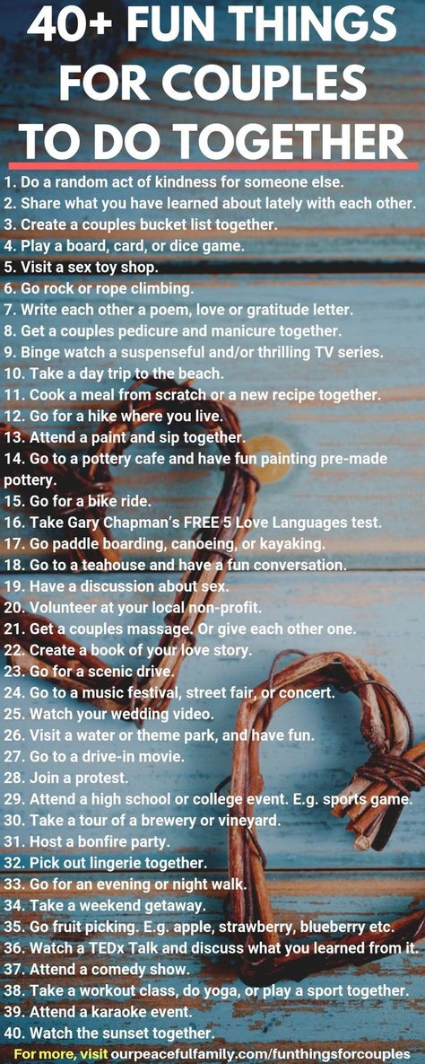101+ Fun Things for Couples to Do: Cute Date Ideas and Activities for Bonding Together - #Activities #Bonding #Couples #Cute #Date #forcouples #Fun #Ideas