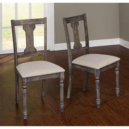 Burntwood Dining Chair Set Of 2 Weathered Grey Dining Chairs Wood Dining Chairs Dining Room Furniture Sets
