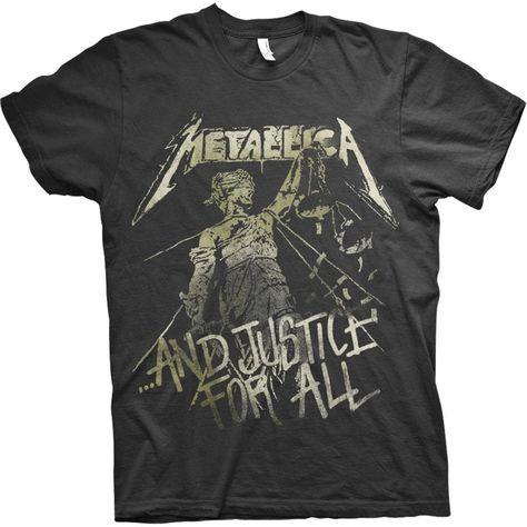 Metallica Unisex Tee: Justice Vintage (Black) - Small / Black / Unisex