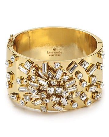 kate spade new york Glass Stone Encrusted Cuff | Bloomingdale's