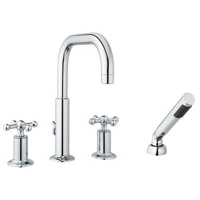 Mcn Faucets Deck Mount Roman Tub Faucet With Hand Shower Finish