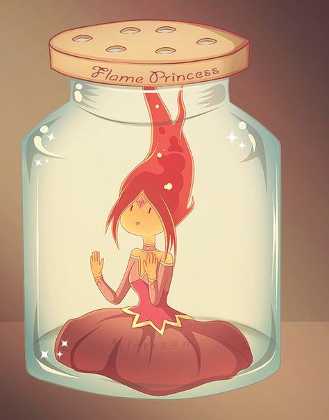Hora de Aventura princesa flama