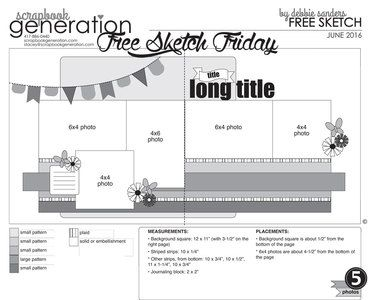SG Exclusives - Downloads - Free Sketches - Scrapbook Generation