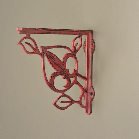 Pair Victorian cast iron shelf bracket 35-015