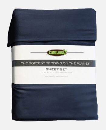 Cariloha Classic Viscose From Bamboo Queen Sheet Set Blue King