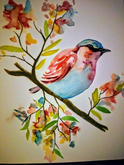 55 Very Easy Watercolor Painting Ideas For Beginners Pinterest