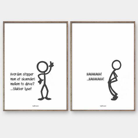 Stickmen - De originale og populære plakater fra byFrank