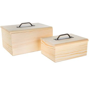 Wooden Box With Metal Handle Wooden Boxes Wood Boxes Hobby Lobby