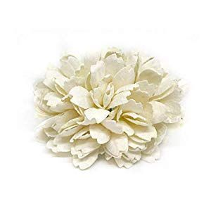Savvi Jewels 2 5cm White Mulberry Paper Flowers With Wire Stems