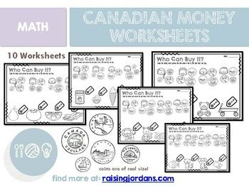 Canadian Money Math Worksheets Who Can Buy It Money Math Worksheets Money Math Math Worksheets