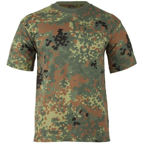 mfh uomo maglietta con army  MFH T-shirt Flecktarn | T-shirts & Vests | Military 1st | Camping ...