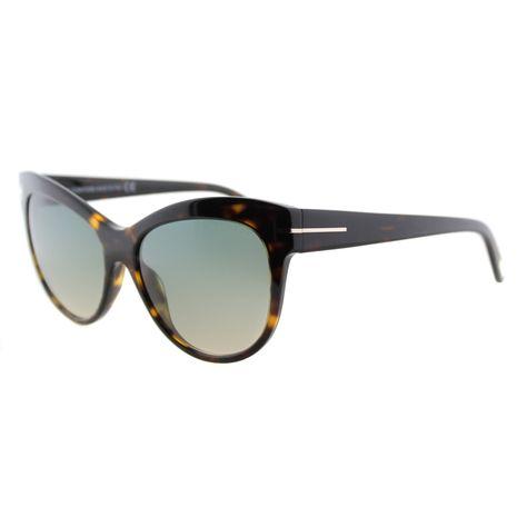 240129c11b62d Tom Ford Lily TF 430 52P Havana Cat-Eye Plastic Sunglasses