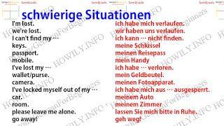 schwierige Situationen - German for all Deutsch für alle