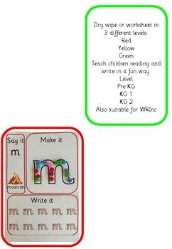 READ WRITE INC inspired dry wipe | My TpT | Read write inc ...
