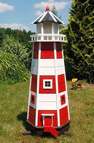 Wunderschoner Grosser Xxl Leuchtturm Aus Holz Mit Solar Beleuchtung 1 40 M Rot Weiss Solarbeleuchtung Gartendeko Led Solarbeleuchtung Leuchtturm Beleuchtung