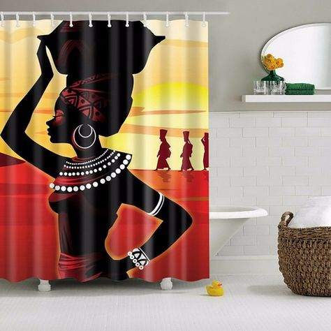 Nubian Queen Shower Curtain Afrocentric Shower Curtain Make A Great Home Decor Gift Idea We T Fabric Shower Curtains Shower Curtain Bathroom Shower Curtains