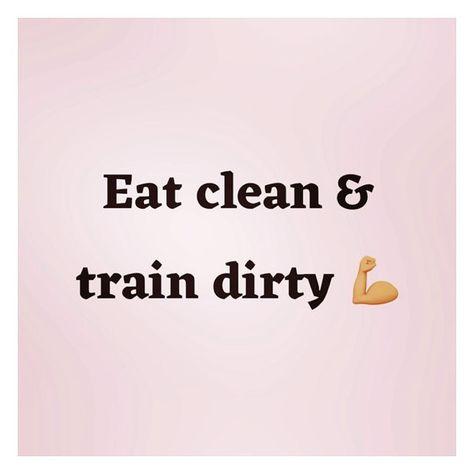 "Gitte Hundal på Instagram: ""EAT CLEAN & TRAIN DIRTY 🌱💪🏼 #workoutmotivation #workoutquotes #sticktoyourdiet #workoutroutine #healthquotes #dietquotes…"""