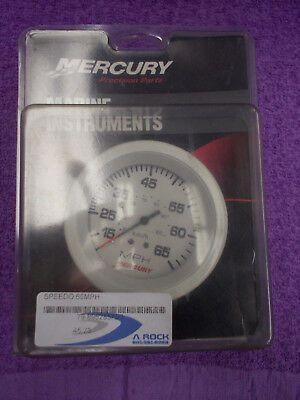 Mercury 65 MPH Speedometer Analog Gauge White Part # 79-895285A23